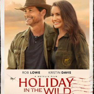 Photograph of Rob Lowe and Kristin Davis promoting the film Holiday in the Wild