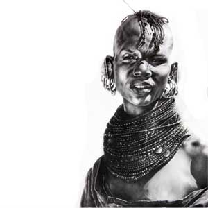 buy graphite pencil drawing of an african woman