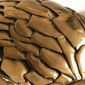 Pangolin scales from bronze sculpture
