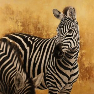 Wildlife Artist of the Year 2020 competition entry - Zebra in Oil
