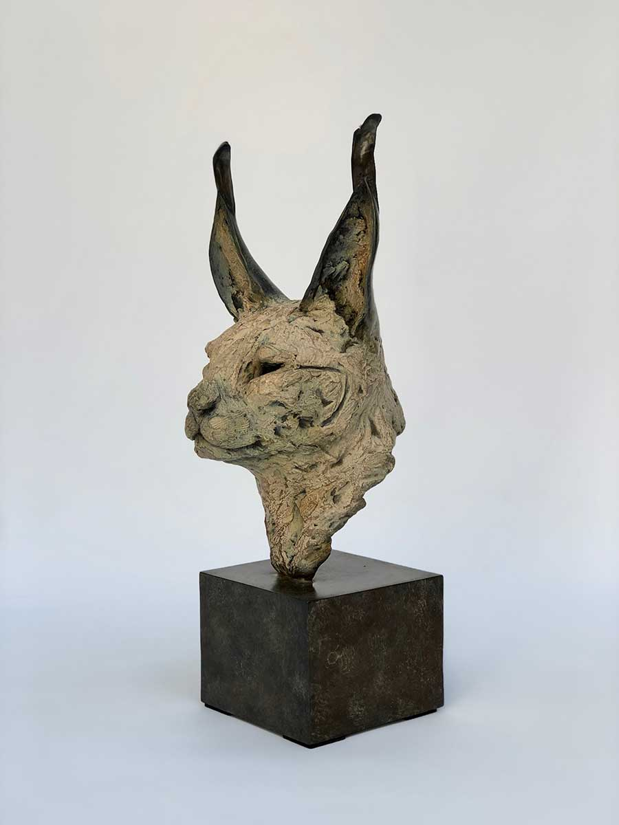 Caracal bronze sculpture entered Wildlife Artist of the Year 2020
