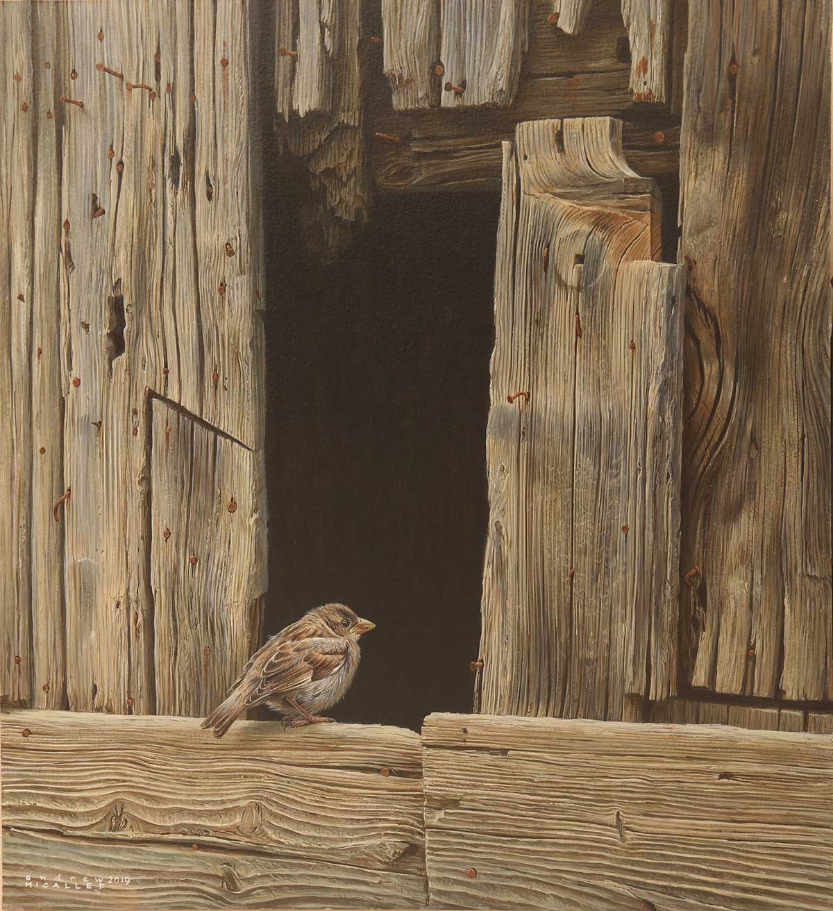 Wildlife Artist of the Year 2020 competition entry - Bird acrylic on board