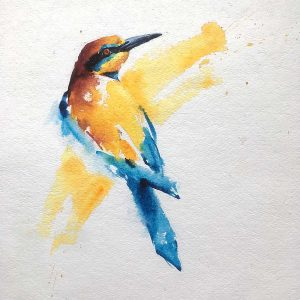 Wildlife Artist of the Year 2020 competition entry - Bird in Watercolour