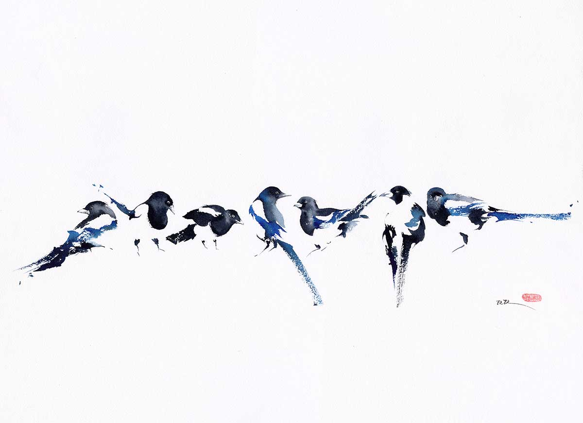 Bird watercolour entry into Wildlife Artist of the Year 2020