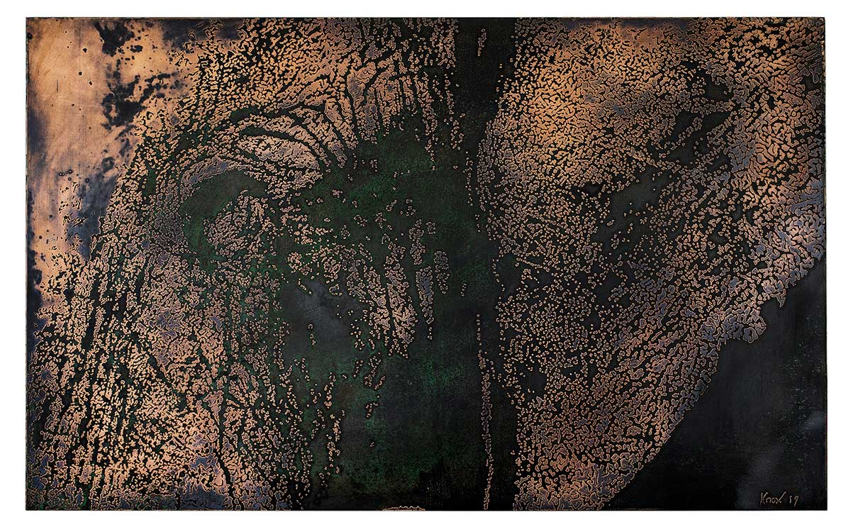 Elephant etched copper entry in Wildlife Artist of the Year 2020