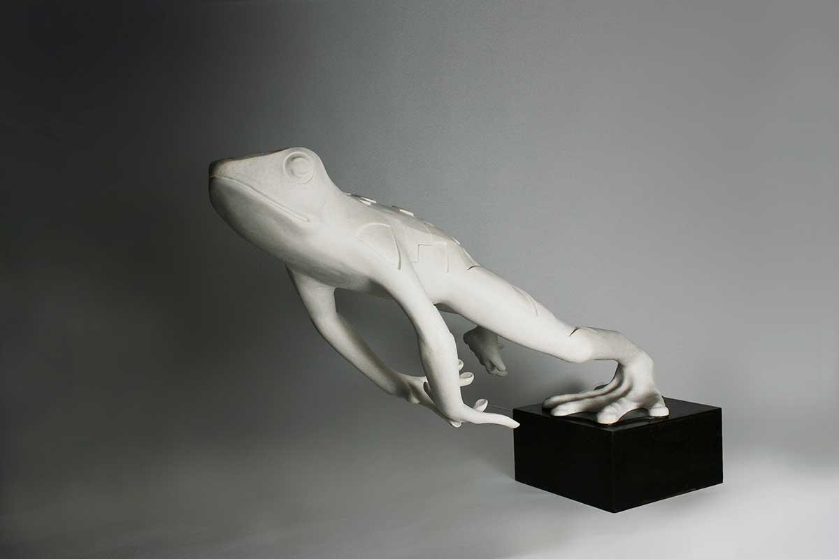 Wildlife Artist of the Year 2020 competition entry - Frog in Resin and Marble