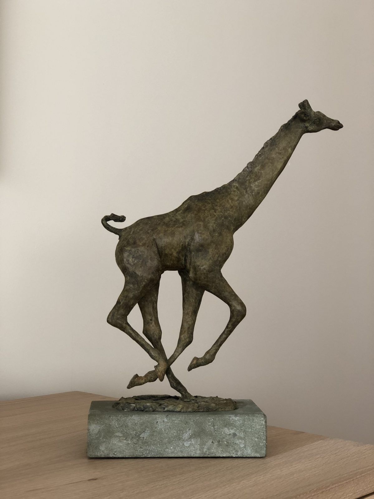 Giraffe bronze sculpture entered Wildlife Artist of the Year 2020