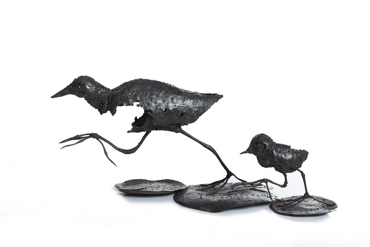 Jacana metal entry into Wildlife Artist of the Year 2020