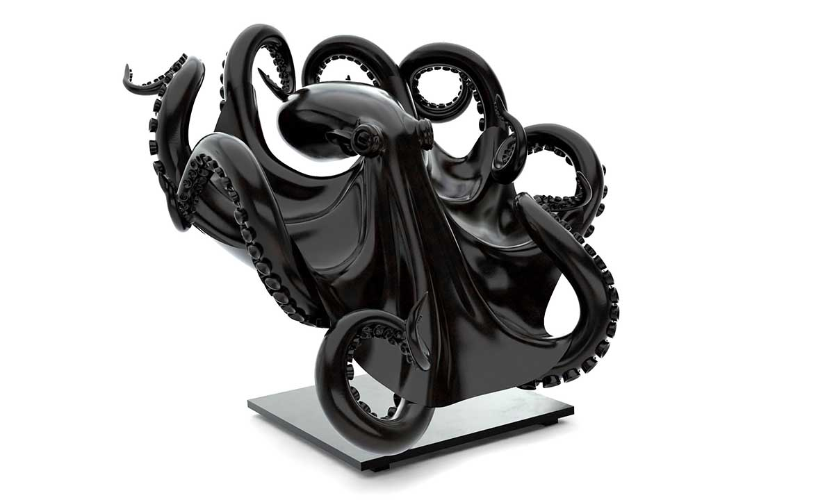Octopus bronze sculpture entry in Wildlife Artist of the Year 2020