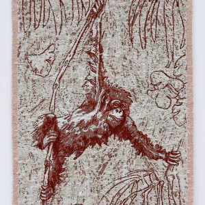 Orangutan woven artwork entered Wildlife Artist of the Year 2020
