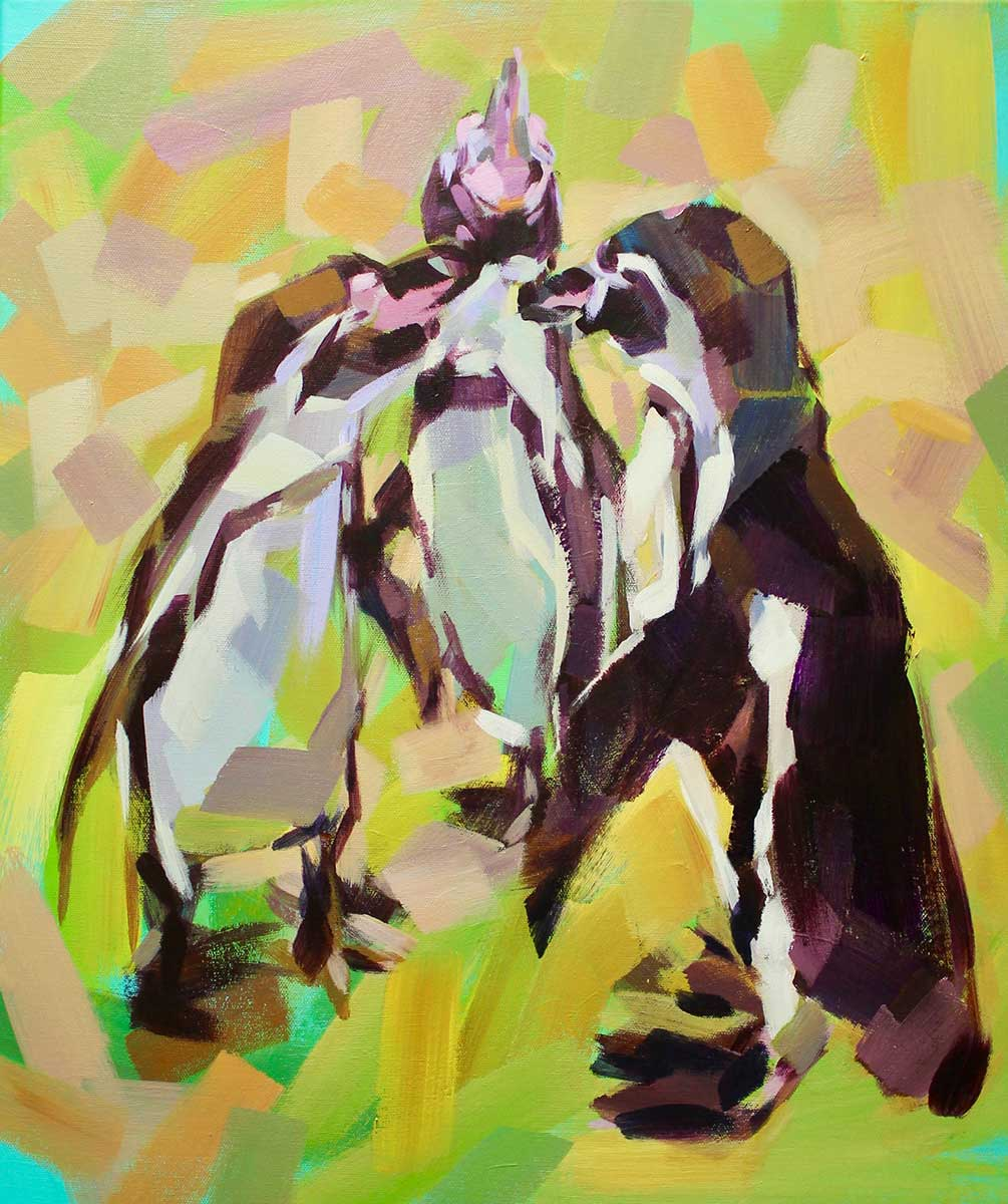 Wildlife Artist of the Year 2020 competition entry - Penguin in Acrylic
