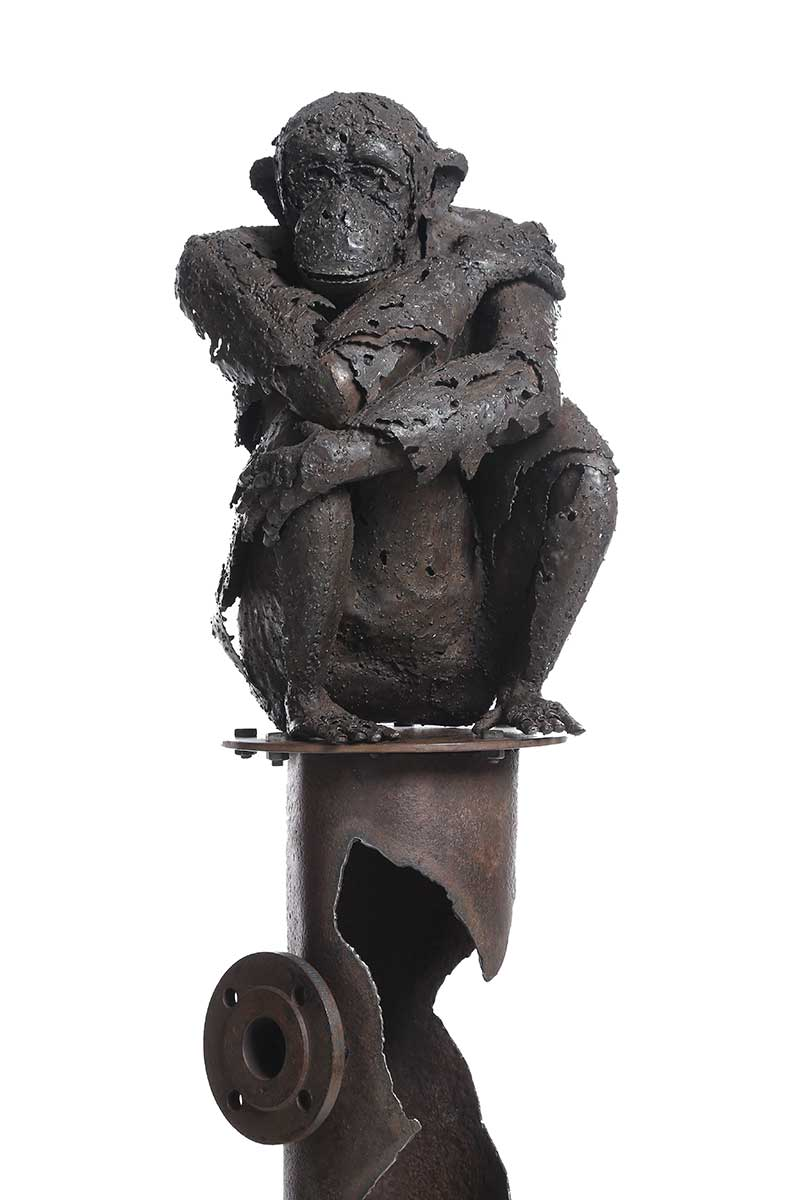 Primate metal entry in Wildlife Artist of the Year 2020