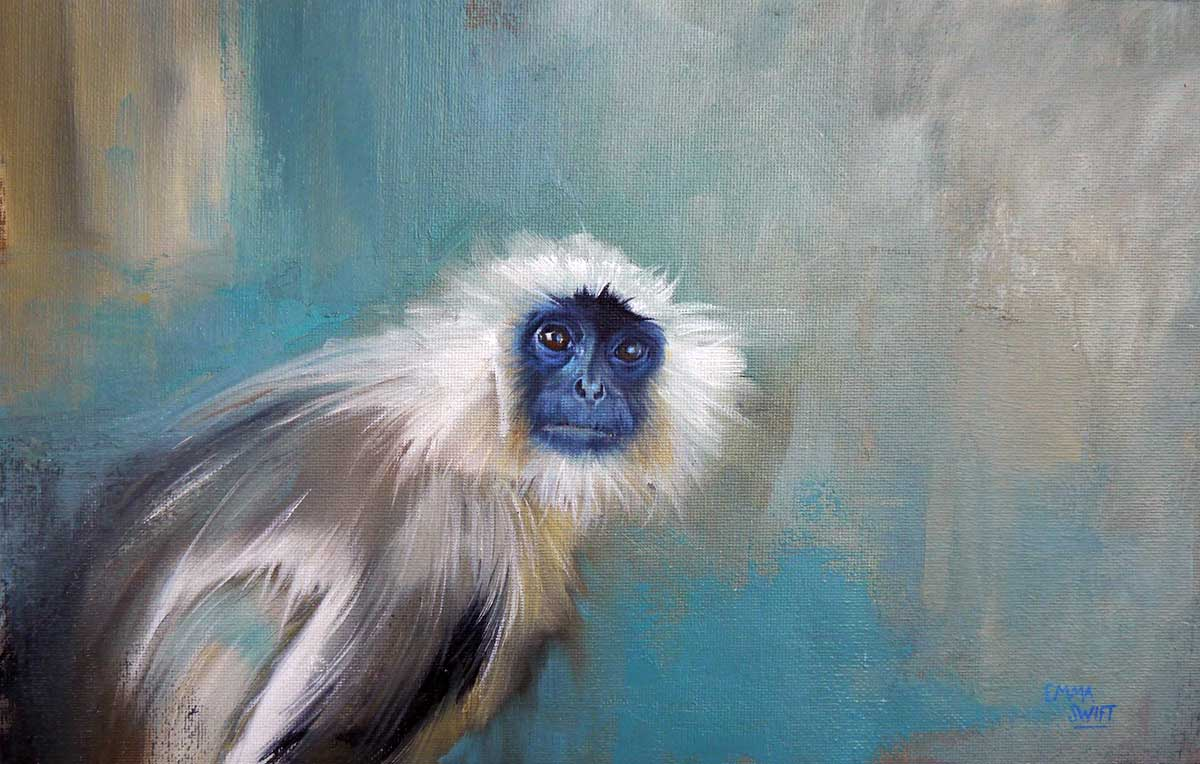 Wildlife Artist of the Year 2020 competition entry - Primate, Oil on Canvas