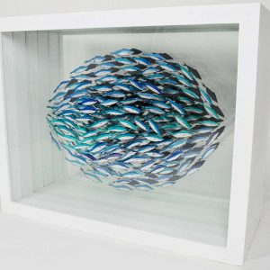 Sardine verre eglomise artwork entry in Wildlife Artist of the Year 2020