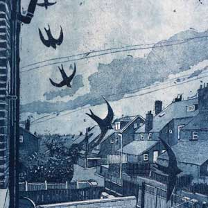 Wildlife Artist of the Year 2020 competition entry - Swallow Etching