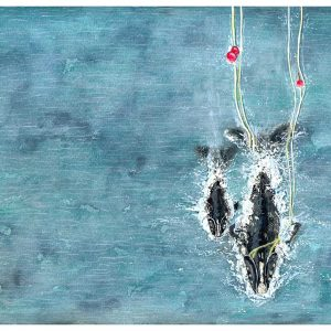 Whale watercolour painting entry in Wildlife Artist of the Year 2020