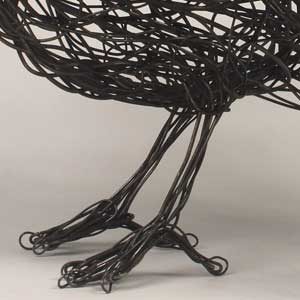 Bird feet made out of wire