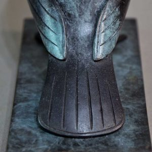 Pigeon's tail in close up sculpture by Daniel Mille