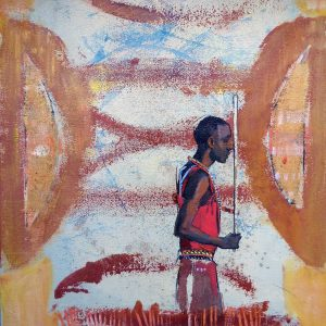 Painting of an African tribesman by Emily Lamb