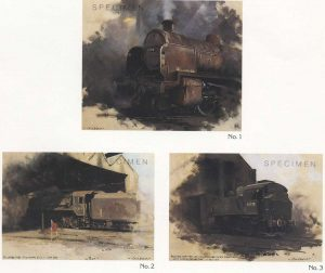 steam trains, oil on canvas, by David Shepherd