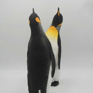 Two penguins standing together