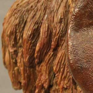 Detailed image of a sculpture by Martin Adamson