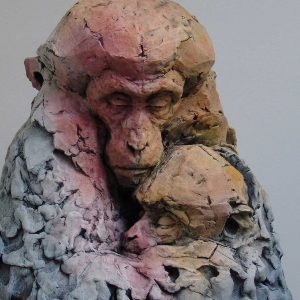 Macaque sculpture