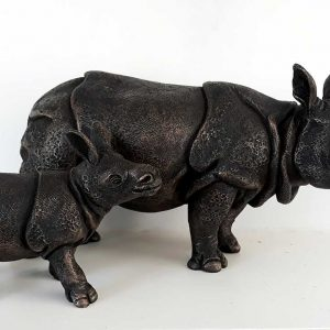 Rhino sculpture by Suzie Marsh