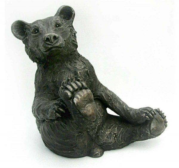 Bear cub sculpture