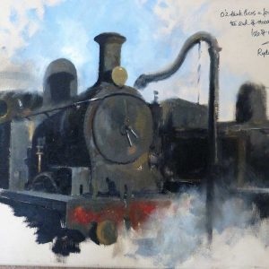 tank, oil on canvas by David Shepherd