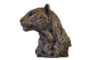 Leopard sculpture