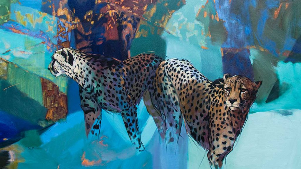 cheetah painting by emily lamb