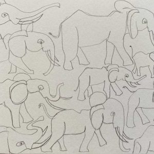 Postcard 37, Elephants