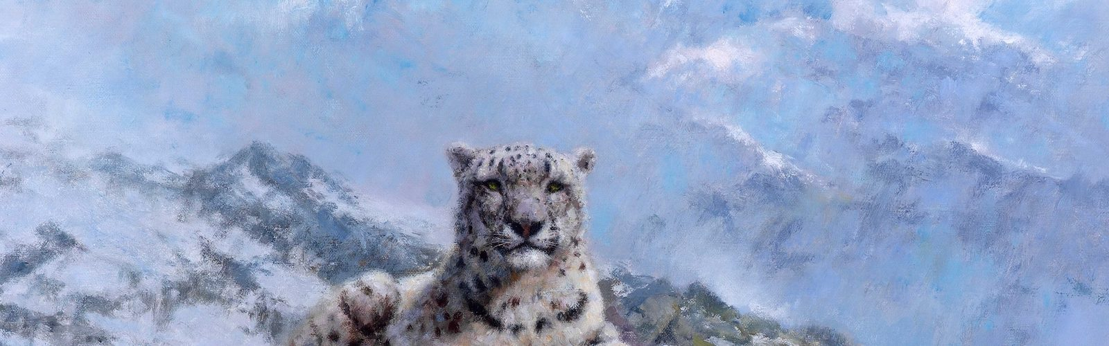 snow leopard painting by david shepherd