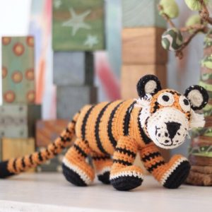 Handmade crochet ethically sourced tiger toy