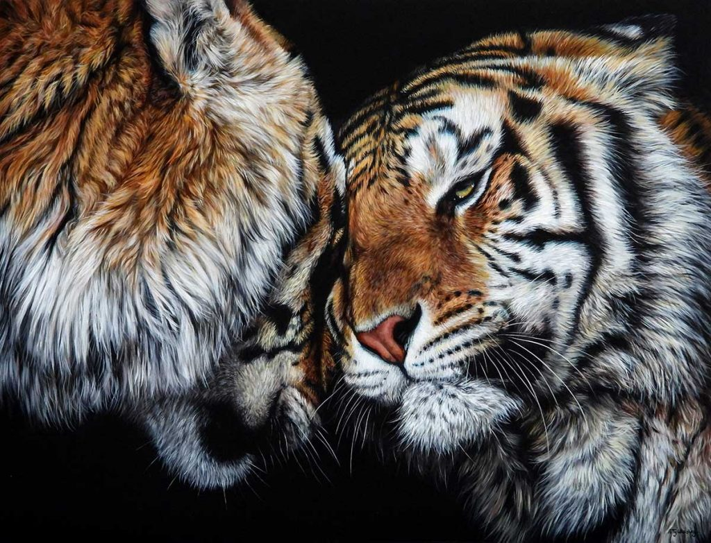 acrylic tiger artwork for sale