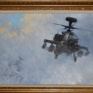 Original helicopter painting by artist David Shepherd
