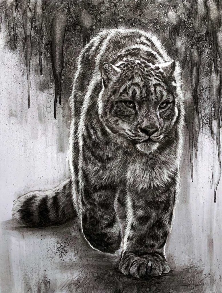 charcoal drawing by david wilson