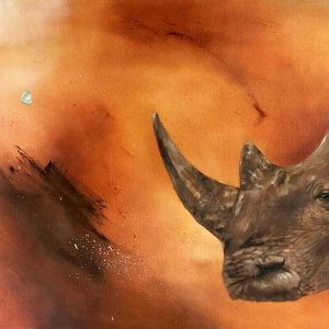 Rhino artwork by South African artist Joni-Leigh Doran