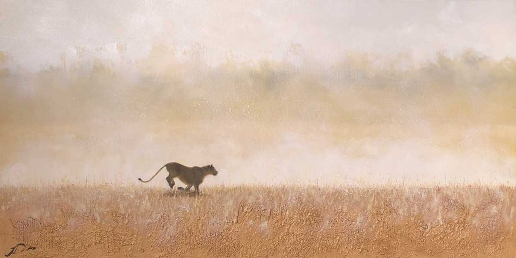 Joni-Leigh Doran painting of a lioness