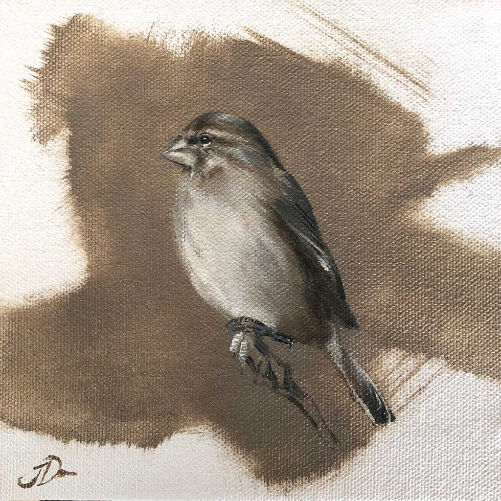 white throated canary artwork by Joni-Leigh Doran