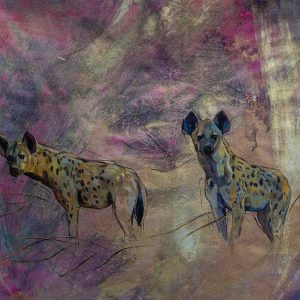 emily lamb painting of hyenas