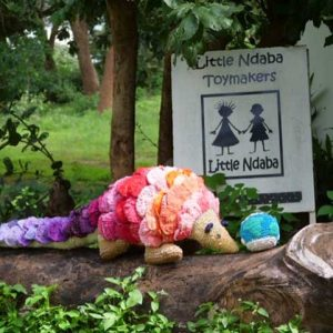 Buy this giant pangolin by Little Ndababa in aid of conservation