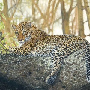jaguar in a tree painting