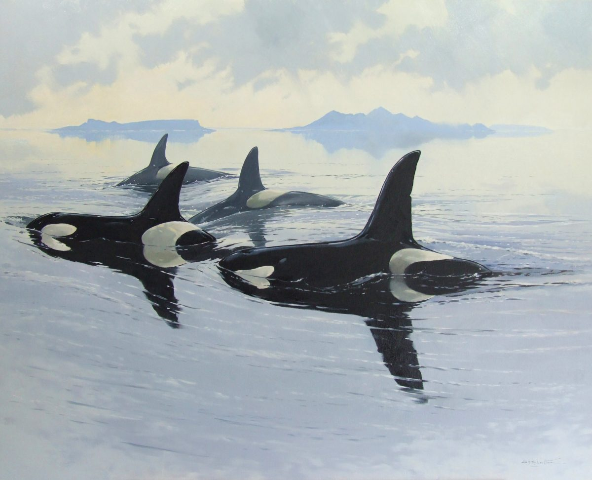 Painting by Derek Robertson titled The Sea Wolves