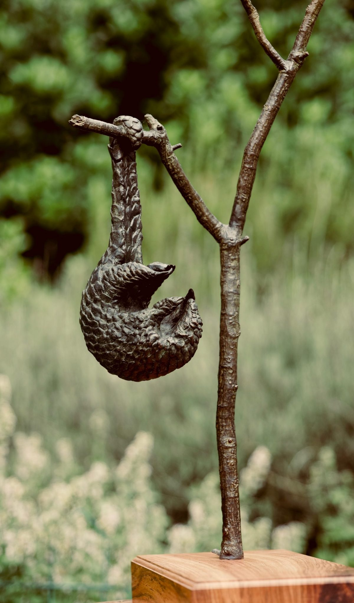 A sculpture by Jonathan Parkinson called Hanging About
