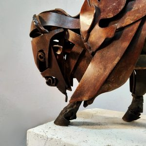 Sculpture by Jose Miguel Pino called American Bison