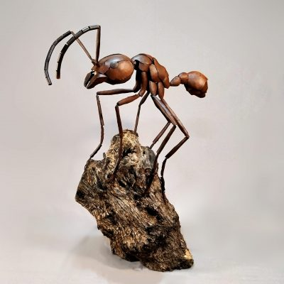 Sculpture by artist Jose Miguel Pino titled Leafcutter Ant