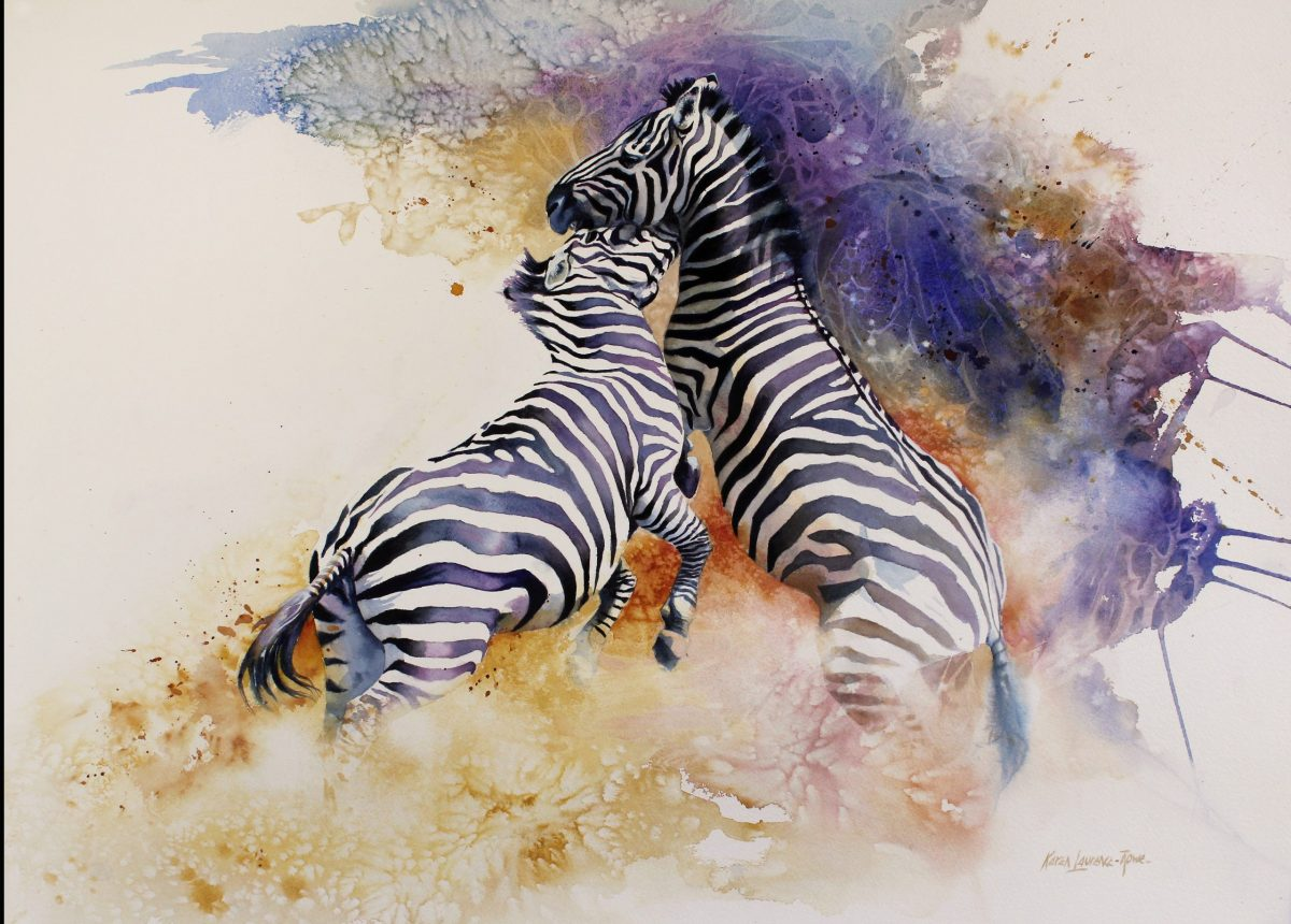 Painting by Karen Laurence-Rowe titled The Challenge