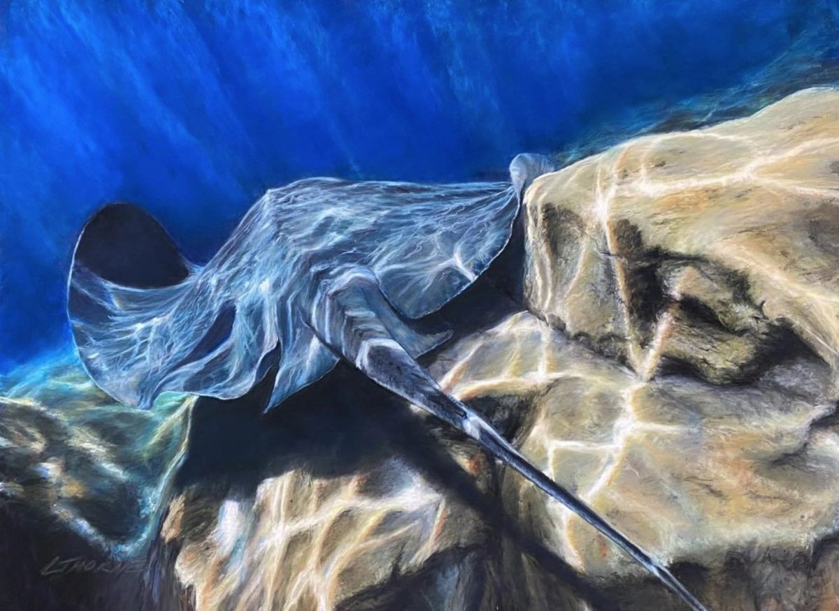 Artwork by Lisa Nugent titled Follow Me Into the Sea